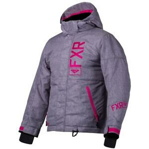 FXR Youth Fresh Insulated Winter Snow Jacket - Gray & Pink