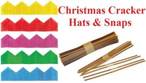 Cracker Snaps & Hats Pulls Bangs Make Your Own Christmas Crackers Xmas Party