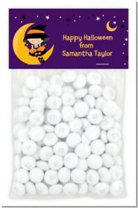 Dress Up Witch Costume - Custom Halloween Treat Bag Topper with candy bag