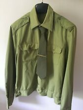 Military officer shirt with tie Soviet army USSR 1980