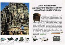 PUBLICITE ADVERTISING 095  1991  CANON  copieur imprimante minitel (2p) WORDTANK