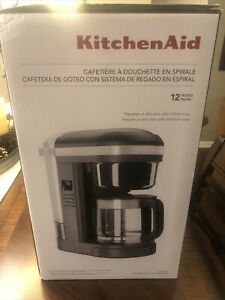 KitchenAid 12 Cup Drip Coffee Maker with Spiral Showerhead, KCM1208DG Black NEW