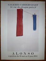 Alonso Angel Affiche en Lithographie sur velin art abstrait Cahier d'art Espagne