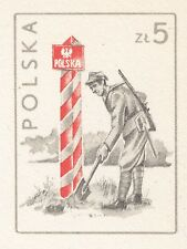POLAND 1984 MINT Postcard Cp#878  Field Postal Route, Polish People's Army, WWII