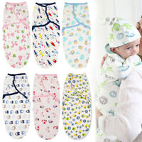 Solid Cotton Wrap Baby Swaddle Infant Sleep Sack Newborn Blanket Soft Sleep Bag