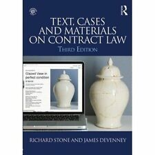 Text, Cases and Materials on Contract Law by Richard Stone, James Devenney