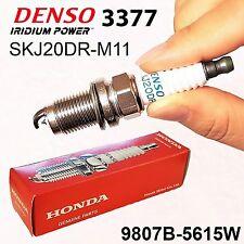 4(four) x HONDA OEM 9807B-5615W LASER IRIDIUM Spark Plug DENSO 3377 SKJ20DR-M11