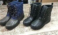 Women's Sperry Gosling Quilted Ladies Winter Duck Boot - Black or Navy