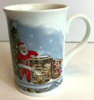 Vintage Amazon Fine Bone China Christmas Santa England Mug Tea Coffee Cup Winter
