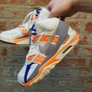 NIKE AIR SC HIGH OG QS TRAINER White Blue Orange 617853-100 UK 9.5 EUR 44.5