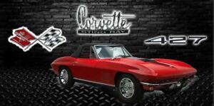 427 Corvette Convertible Garage Shop Banner