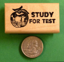 Study for Test - Teacher's Reminder Rubber Stamp, Wood Mounted