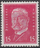 Stamp Germany 3rd Reich Mi 414 Sc 374 1928 Hindenburg General Prussia MH
