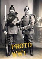 WW1 WWI GUERRE 1914-1918  Poilu  - Empire Allemand casque a pointe  Krieg  WAR