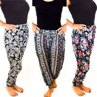 Ladies Harem Pants Trousers Ali Baba Baggy Boho Hareem Designs Size 8 10 12 14