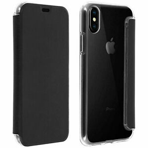 Griffin iPhone X/XS Drop Tested Book Wallet Case Cover Card Slot Black/Clear