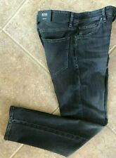 Hugo Boss Black Maine Jeans 34 x 32 Regular Fit Charcoal Stretch Denim NWT $178
