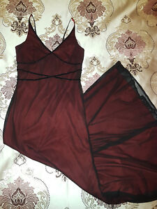 Made In Australia Purple Patch Long Red Formal Ball Dress