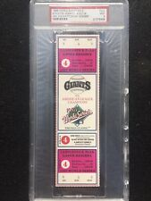 1989 World Series Game 4 Oakland A's Athletics Full Unused Ticket PSA 9 MINT SF