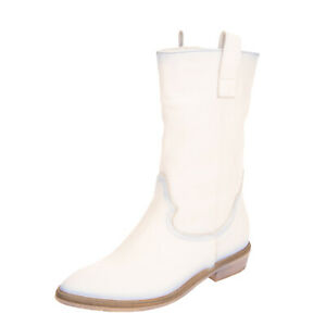 RRP €160 DIVINE FOLLIE Leather Western Boots Size 38 UK 5 US 8 Made in Italy