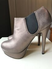 ASOS Designer Ladies Women Bronze Ankle High Heel Shoe Boot Size 5 38