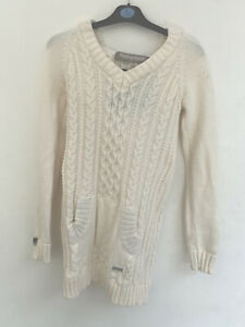 Superdry Womens Knitted White Jumper/Cardigan With Hood