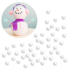 100pcs White Smooth Polystyrene Foam Balls School Project Wedding Crafts 1cm