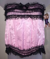 Shirley Of Hollywood Pink Black Corset Size XXL Style SS367 Cut 442 NWT