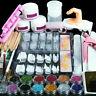 Acrylic Nail Kit Acrylic Powder Glitter Nail Art Manicure Tool Tips Brush Set...