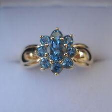 Certified Santa Maria Aquamarine Gold Ring
