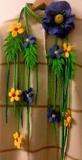 Collana Spilla di fiori infeltriti A Mano Lana Merino