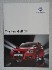 VOLKSWAGEN GOLF GTI BROCHURE 2004 - 2.0 LITRI FSI 200PS MANUALE & AUTOMATICO (DSG)