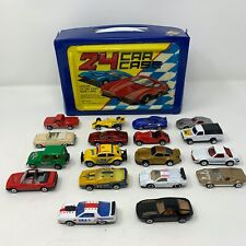 Vintage 1980's Diecast 18 Car Lot Generic Unbranded Tara Toys Case - Matchbox