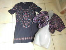 2Teile Hippie Tunika Long Shirt Kleid Laura T Bolero Bluse Jäckchen Top H&M 36