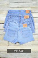 Grade A Levis Vintage Femmes Short en Jeans Taille Haute 6 8 10 12 14 16 18