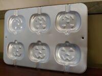Vintage 1995 Wilton Halloween Baking Pan Pumpkin Cake Pop Mold 2105-8100 NICE