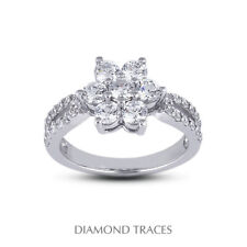 Certified Diamonds 950 Plat. Right Hand Ring 1 1/2ct F Vs2 Round Cut Earth Mined