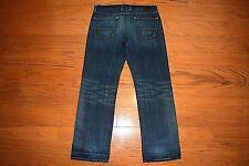 LUCKY BRAND - Made USA - VINTAGE STRAIGHT Leg Blue Jeans - Men Size 35 x 33 MINT
