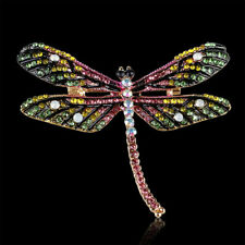 Delicate Rhinestone Dragonfly Insect Brooch Lapel Pin Scarf Buckle Women Gifts