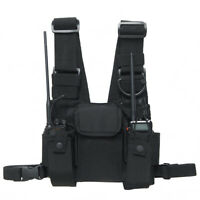 Survival Tactical Vests Combat Harness Radio Chest Rig Pager Vest For Hunting