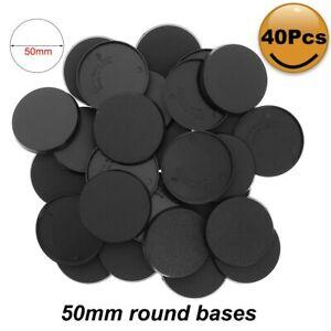 20pcs/40pcs/80pcs Round Bases 50mm Model Base Plastic For Mini Wargames MB750