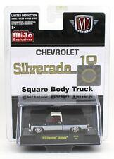 1:64 M2 Machines *MiJo EX* Black & White 1973 Chevrolet Silverado Pickup NIP!