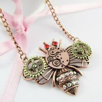 Steampunk Cogs & Gears Queen Bee Charm Pendant Necklace 58cm Copper