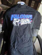 Black XL 100% Preshrunk Cotton T Shirt Falcons Basketball Graphic Extra Large
