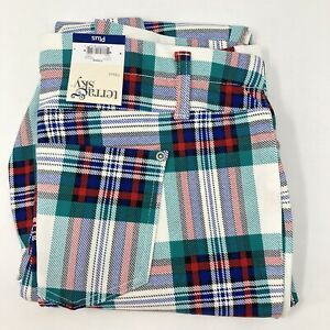 Terra & Sky Plus Size 4X 28W-30W White Plaid Fitted Full Length Jegging New