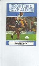 Brighton & Hove Albion Past Domestic Leagues Home Teams A-B Football Programmes