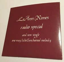 LEANN RIMES Radio Special Interview CD 1996 oz australia card sleeve superb