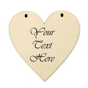 Personalised Wooden Heart Sign / Decoration with Twine/ribbon for easy hanging