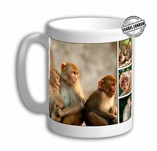 Monkey Collage Personalised Monkey Mug. Customise with your own text.FOC. IL5349