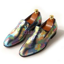 Fashion Mens SLip on Loafers Multi-color Dress Wedding Show Pumps Spring Shoes